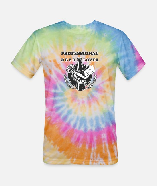 Brewery T-Shirts - Professional Beer Taster and Lover. - Unisex Tie Dye T-Shirt rainbow