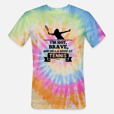 Ass Girl playing tennis Tennis player - Unisex Tie Dye T-Shirt