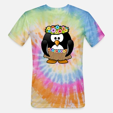 Hula Dancer Hula dancer penguin - Unisex Tie Dye T-Shirt