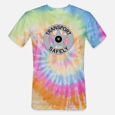 Transportation Transport Safely Logo - Unisex Tie Dye T-Shirt