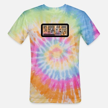Display Canon 7D camera LCD Display black - Unisex Tie Dye T-Shirt