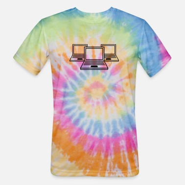 Laptop 3 computer laptop notebook pc write screen mobile - Unisex Tie Dye T-Shirt