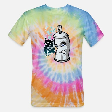 Spray Can Spray and graffiti - Unisex Tie Dye T-Shirt