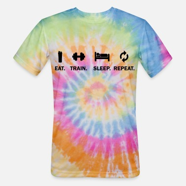 EAT TRAIN SLEEP REPEAT - Unisex Tie Dye T-Shirt