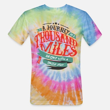 Typo Collection journey grunge - Unisex Tie Dye T-Shirt