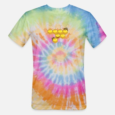 Honeycomb Bees and honeycomb - Unisex Tie Dye T-Shirt