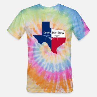 Lone Star State Drone Star State - Unisex Tie Dye T-Shirt