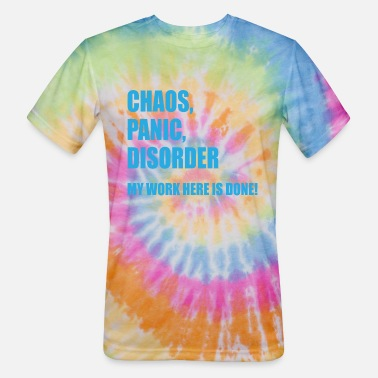 Long Sleeve T-shirt Unique Panic Chaos Disorder My work Here Is Done