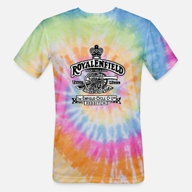 Royal royal enfield bike - Unisex Tie Dye T-Shirt