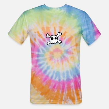 Cute Skull Skull and boones - Unisex Tie Dye T-Shirt