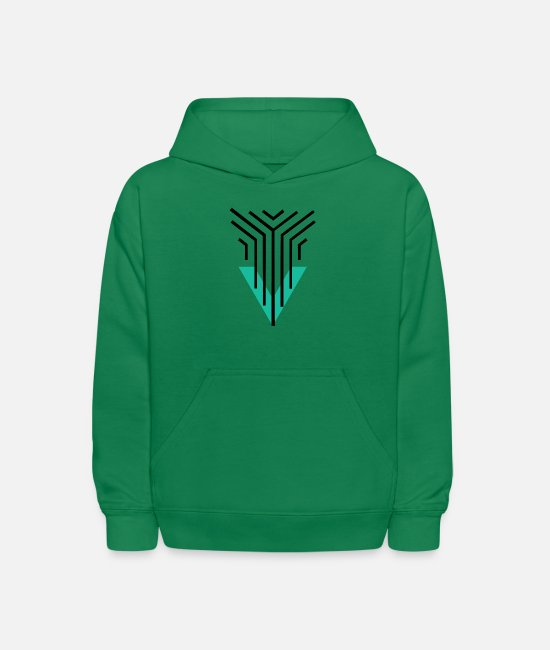 Artist Hoodies & Sweatshirts - Shape Triangle Lines - Kids' Hoodie kelly green