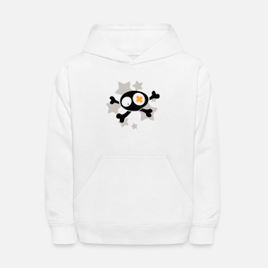 Asterisk Skull with asterisks - Kids' Hoodie