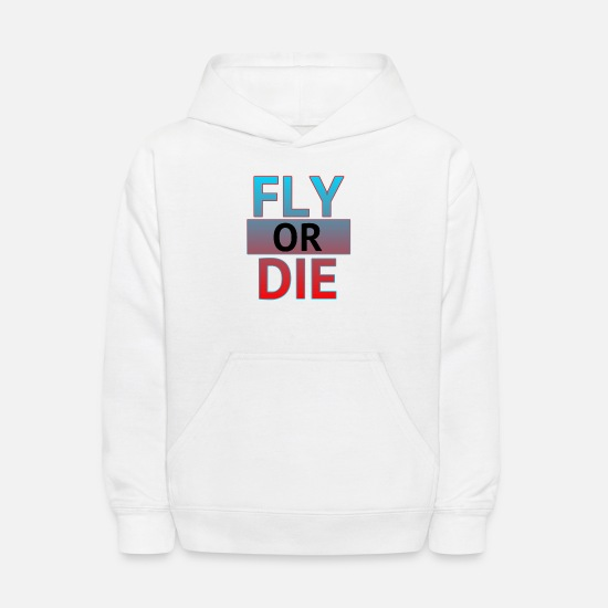 Red Hoodies & Sweatshirts - Fly or die - Kids' Hoodie white