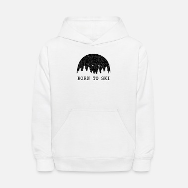 Ski Resort Born to Ski - Kids' Hoodie