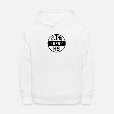 Clothes Before Hoes BRAND circle logo design - Kids' Hoodie