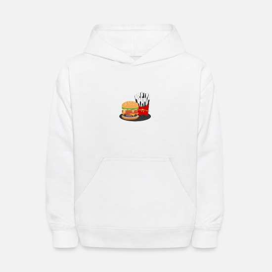 Music Is Life Hoodies & Sweatshirts - Fast Food Rocks - Kids' Hoodie white