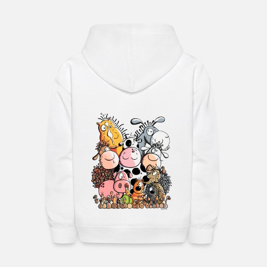 Farm Hoodies & Sweatshirts - Funny Farm Animals - Kids' Hoodie white