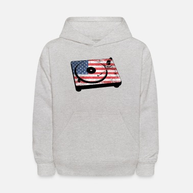 Record Player Stars and Stripes - Kids' Hoodie