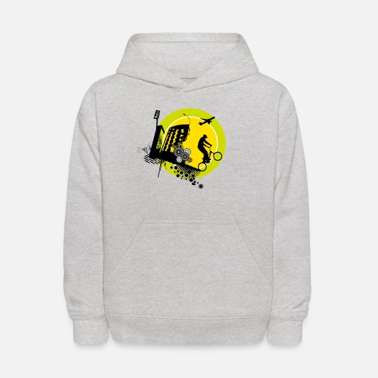 Journey Hoodies & Sweatshirts - circle - Kids' Hoodie heather gray
