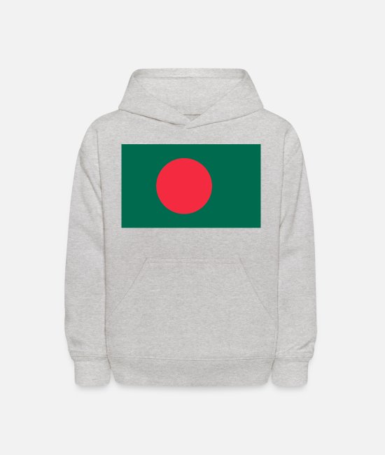 National Hoodies & Sweatshirts - Bangladesh country flag love my land patriot - Kids' Hoodie heather gray