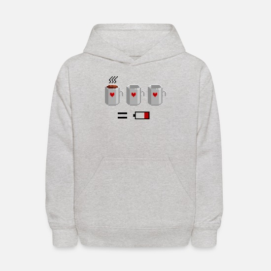 Coffee Hoodies & Sweatshirts - Coffee Status Bar - Kids' Hoodie heather gray