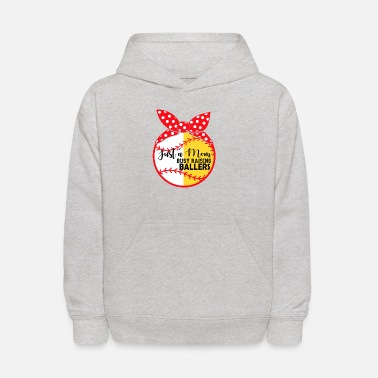 Just A Mom Busy Raising Ballers Baseball Mom - Kids' Hoodie
