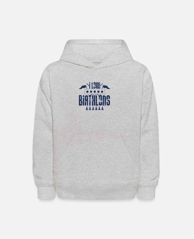 Giant Slalom Hoodies & Sweatshirts - Biathlon Runner - Kids' Hoodie heather gray