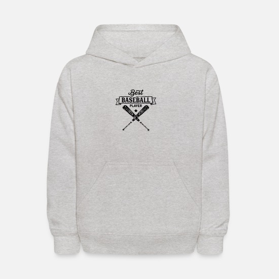 Baseball Players Hoodies & Sweatshirts - Baseball Player - Kids' Hoodie heather gray