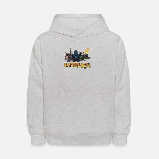 Battle Hoodies & Sweatshirts - BattleBots Robot Limited Edition - Kids' Hoodie heather gray
