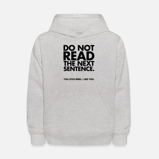 Funny Hoodies & Sweatshirts - Do Not Read - Kids' Hoodie heather gray