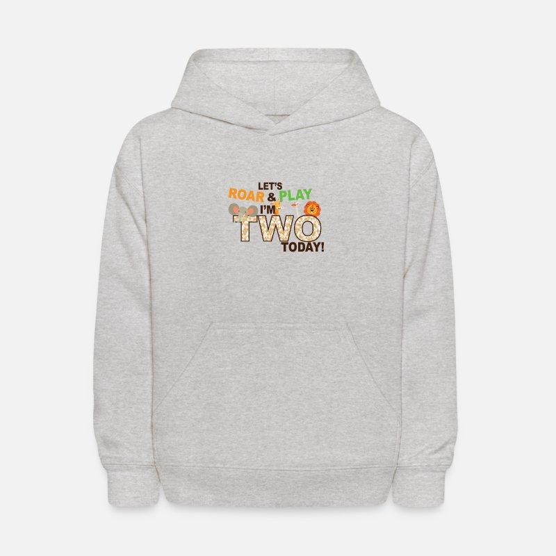 Kids Hoodiezoo Jungle Theme Second 2nd Birthday Shirt
