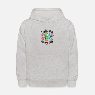 earth day every day - Kids' Hoodie