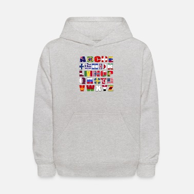 Country Country Flags Alphabet - Kids' Hoodie
