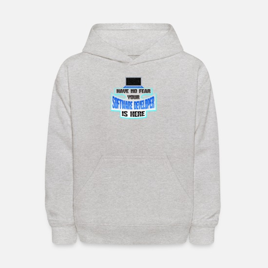 Computer Science Hoodies & Sweatshirts - Software Developer No Fear Software Developer is - Kids' Hoodie heather gray