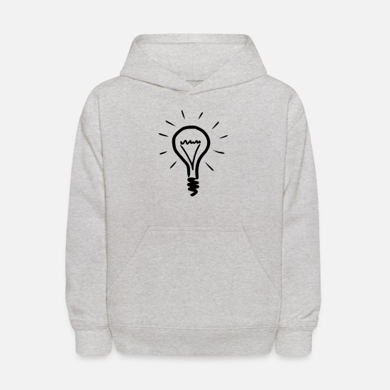 Light Bulb Hoodies & Sweatshirts - Light bulb - Kids' Hoodie heather gray