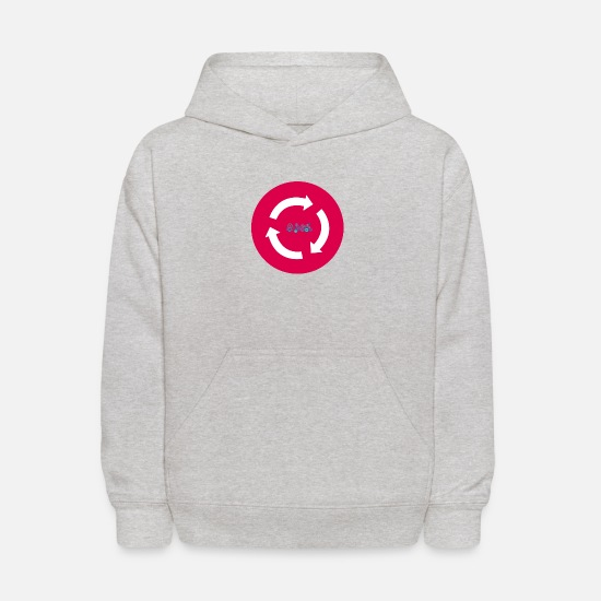 Workspace Hoodies & Sweatshirts - Work Circle - Kids' Hoodie heather gray