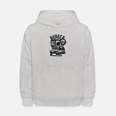 Designs For Street Burger Van Street Food Festival Design Gift Idea - Kids' Hoodie