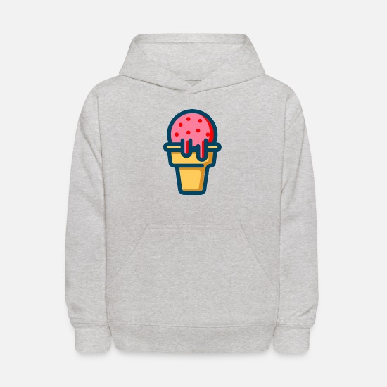 Strawberry Hoodies & Sweatshirts - strawberry ice cream - Kids' Hoodie heather gray