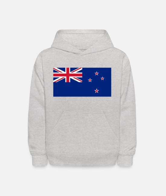 New York City Hoodies & Sweatshirts - I Love New Zealand | Flag Country | Patriot Tees - Kids' Hoodie heather gray