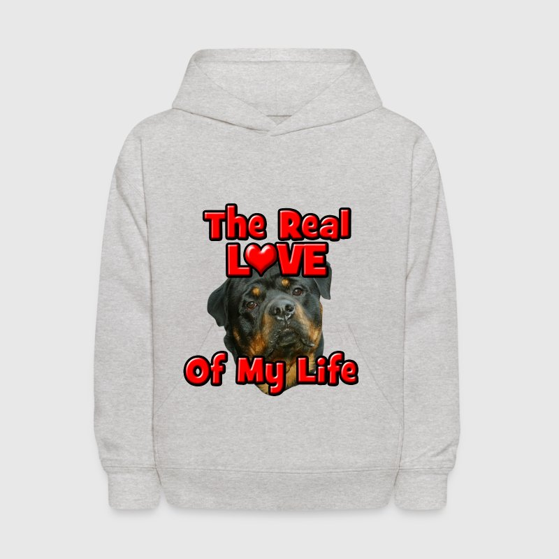 Rottweiler, The Real Love Of My Life - Kids' Hoodie