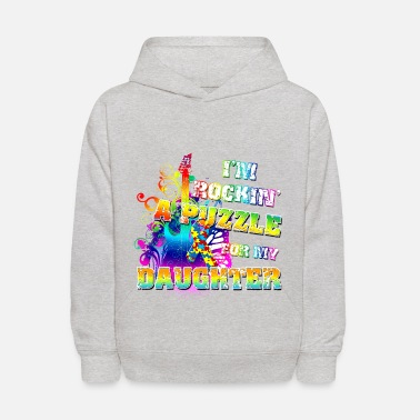 Autism Awareness Autism I'm Rockin' A Puzzle For My Daughter - Kids' Hoodie