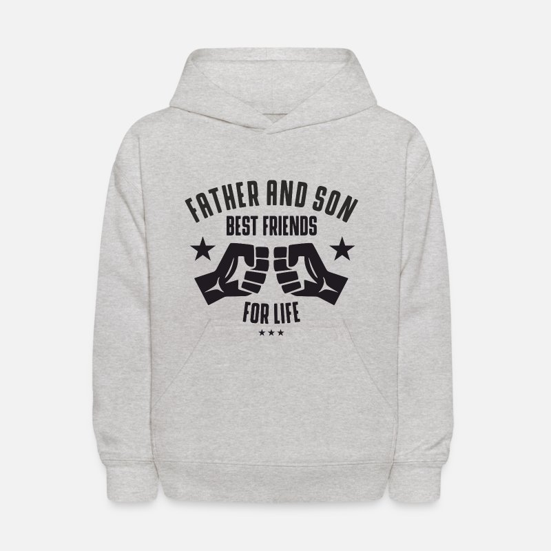 Son Hoodies & Sweatshirts - Father and Son best friends for life  - Kids' Hoodie heather gray