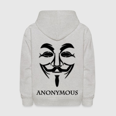Anonymous-black.png - Kids' Hoodie
