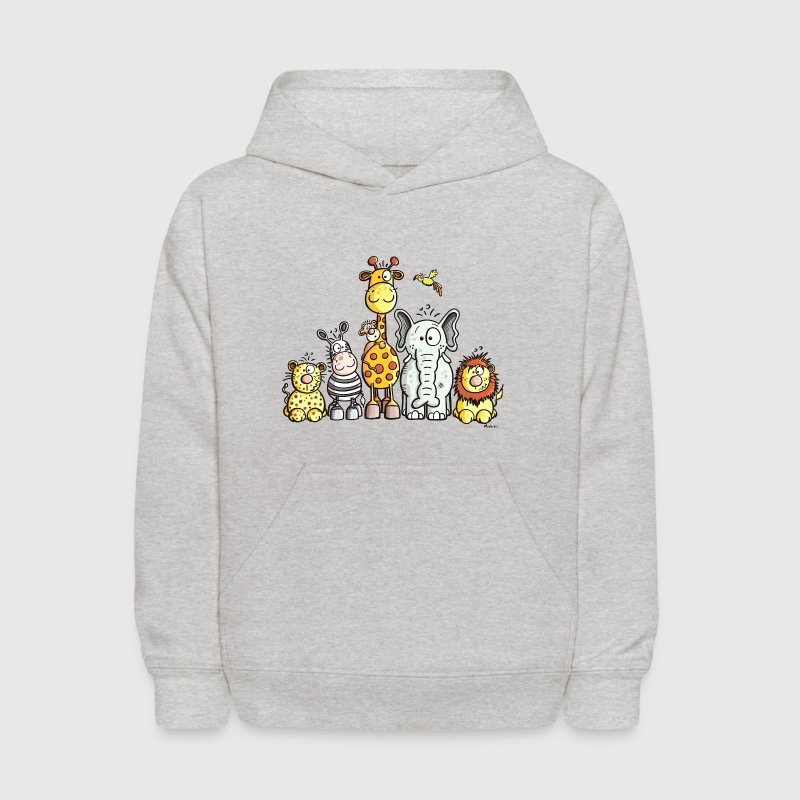 Happy African Animal Team - Kids' Hoodie