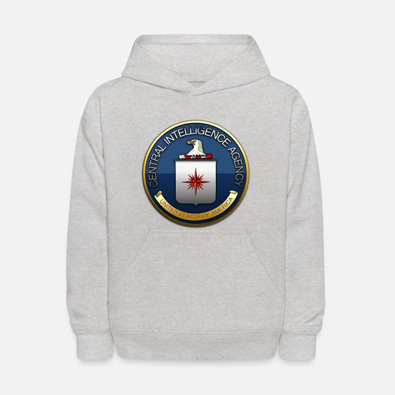 Military Insignia Hoodies & Sweatshirts - Central Intelligence Agency (CIA) - Kids' Hoodie heather gray
