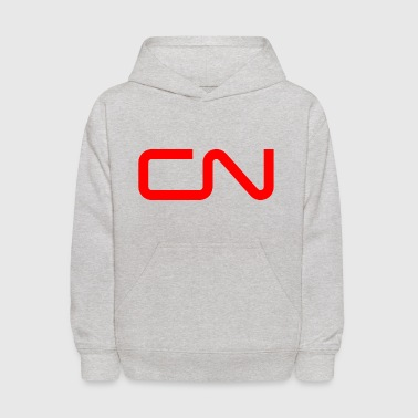 canadian national cn railway logo - Kids' Hoodie