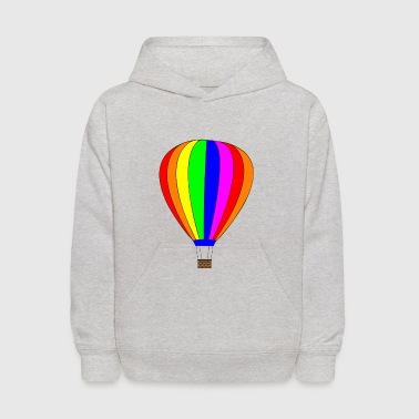 Hot Air Balloon HotAirBalloon heissluftballon fliegen flying1 - Kids' Hoodie