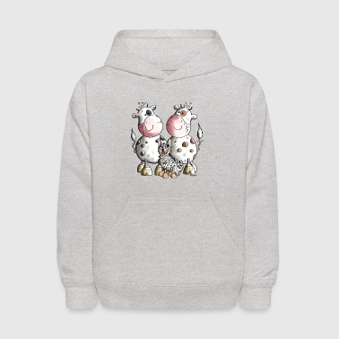 Australian Cattle Dog And Cows - Kids' Hoodie
