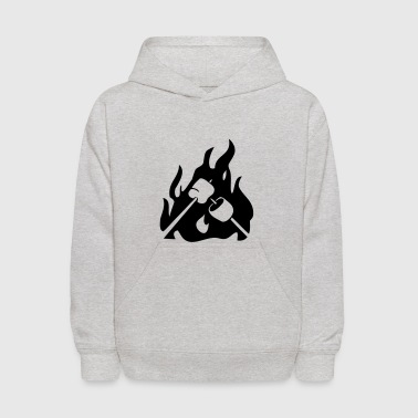 Marshmallow on campfire - Kids' Hoodie