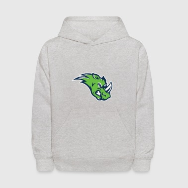 the green rhino - Kids' Hoodie